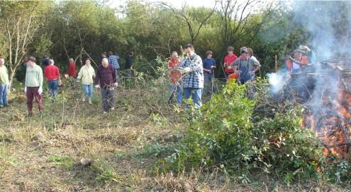 Bei Landschaftspflegemaßnahmen können Mitarbeiter des Bundesfreiwilligendienstes eingesetzt werden