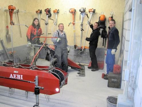 Stützpunkt des Landschaftspflegetrupps in Pfullingen