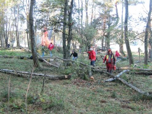 Landschaftspflegetag im Naturschutzgebiet Schopflocher Moor