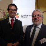 Staatssekretär Andre Baumann und Vizepräsident Hansjörg Schönherr