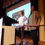 Moritz Mayer und Sylvia Metz zum Thema Silberdistel, Foto: S. Wächter